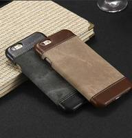 Spare parts for mobile phones PU leather + fabric cover for iPhone 6s 7plus 7 8 X case