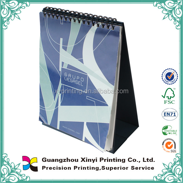 OEM custom-made cardboard base artpaper spiral desk offset cheap wholesale 2019 calendar printing and design