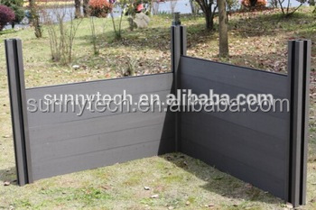 WPC fence Wood Plastic Composite Garden Fence Panel High Quality Easily Assembled