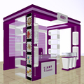 2016 elegant wood painting hair clip display stand and beauty shop and jewelry shop interior design