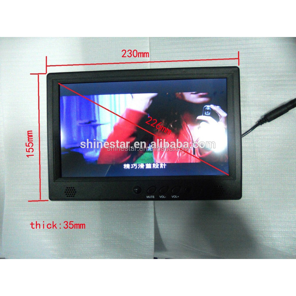 9 inch touchscreen LCD digital advertising signage player <strong>monitor</strong> with IR motion sensor for retail shop