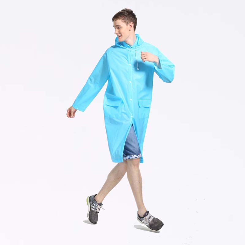 cheap promotional hooded breathable rain poncho coat for hiking