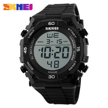 SKMEI #1130 cheap large dial watches plastic case led sports outdoor digital watch