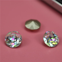 Top quality round crystal k9 faceted glass stones for jewelry making