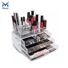 Acrylic cosmetic display case display stand