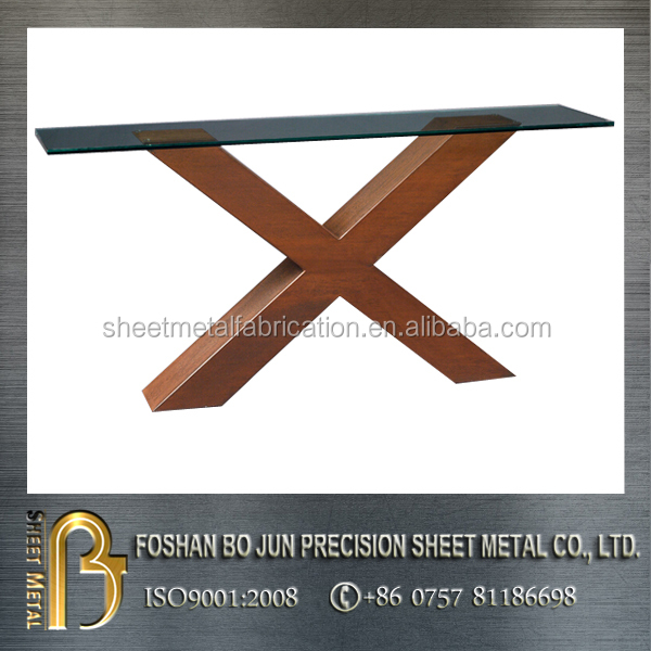 corten steel glass table supporting table legs fabrication