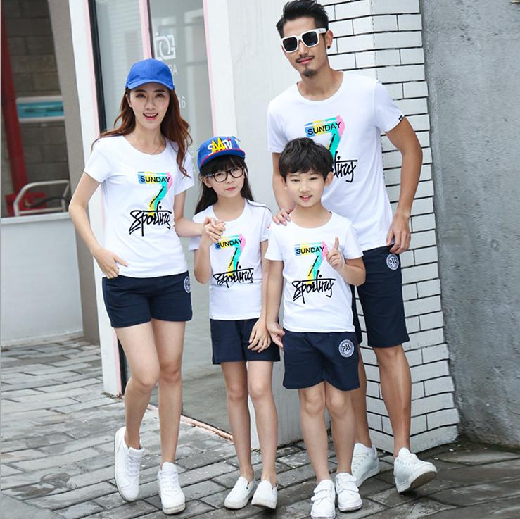 X61101A Family Look 2017 Summer Family clothing Mother Daughter Family Matching Outfits