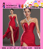 2017 alibaba hot sale strapless club dresses latest designs red sexy ladies party dresses