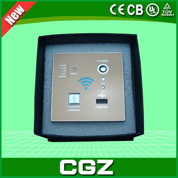 Optical fiber wireless router WiFi and 3G modem battery