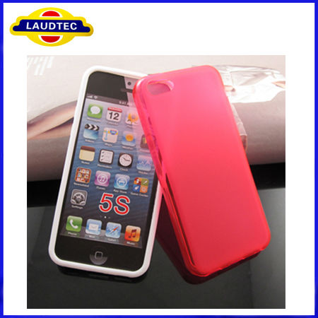 For Iphone 2013 Case Mobile for Iphone5S TPU Side Shiny+ Middle Matte TPU Cover Case for Iphone5S, Mobile Gadgets Laudtec