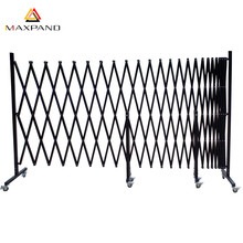 Outdoor Metal Free Standing Palisade Accordion Garage Doors Expanding Retractable Fencing
