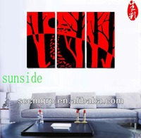 Red Printed Oil Painting Dislay For Home Deco In China