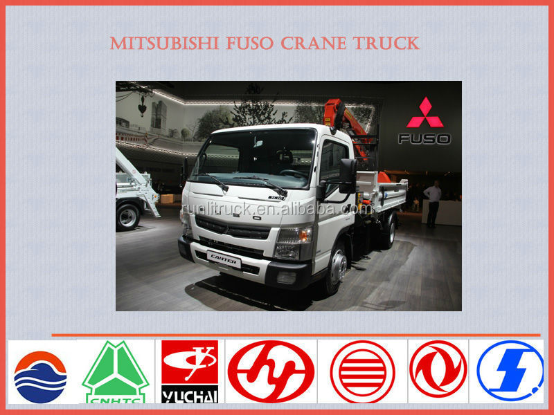 Japan brand mitsubishi fuso crane truck 5ton 4*2 for sale in dubai