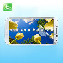 2013 best seller anti glare clear screen saver for samsung i9500 galaxy s4 customized package