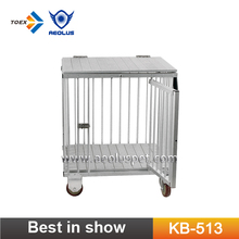 KB-513 Luxury Pet Folding Trolley Aluminum Dog Cage Trolley Pet Carrier Supplies