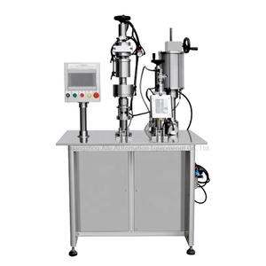 High Speed aerosol liquid perfume filling valve assemble machine for spray paint can machine