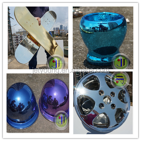 Chrome paint spraying chrome silver gold mirror effect china chrome paint building material fluorocarbon coatings.