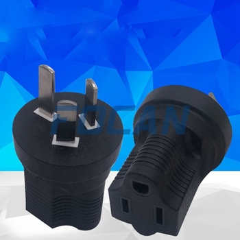 China Type I to 5-15R Plug Adapter