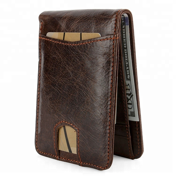 RFID Blocking Handmade Travel Wallet Leather for <strong>Men</strong>