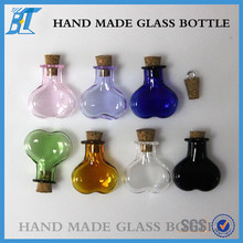 clear colored borosilicate glass pendant crafts accessory wishing floating bottle
