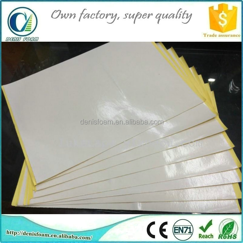 Double sided self adhesive paper
