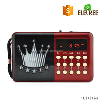 EL-H010U MINI POCKET FM BAND RADIO WITH USB/SD SLOT FOR HOME OR OUTDOOR