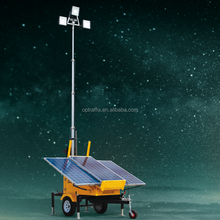 OPTRAFFIC Hot Sale Heavy Duty Hydraulic Mast Light Tower Industrial Solar Led Portable Light Towers