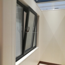 Thermal break aluminum windows CN59 Tilt and Turn windows together with shutter inside