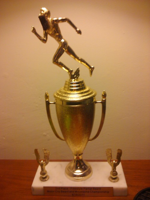 Running Man Golden Metal Trophy