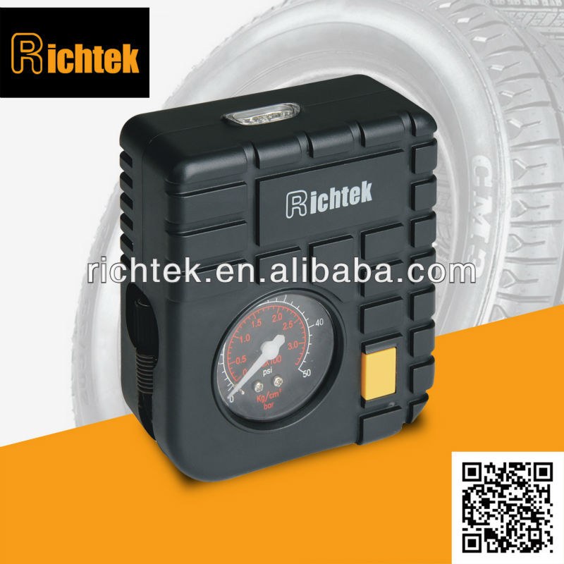 Dongguan Richtek good quality small piston air pump , portable air compressor, tire infaltor for sale RCP-C43L