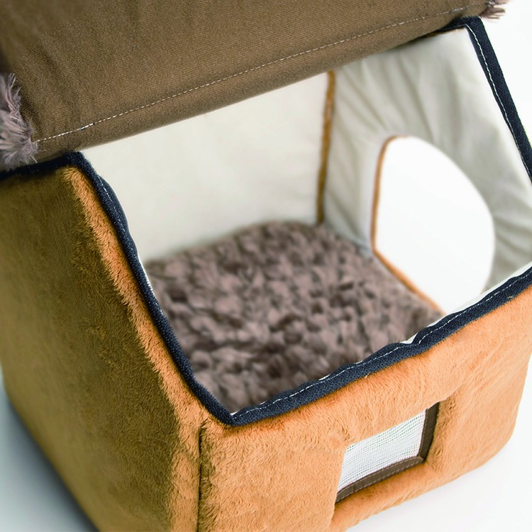free sample low MOQ new igloo design house design high quality warm house cat pet bed