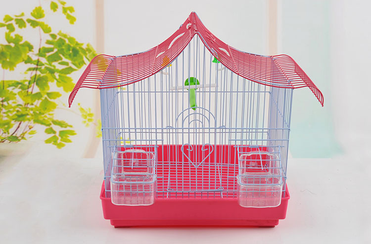 Decorative metal wire large size indoor parrot breeding cage