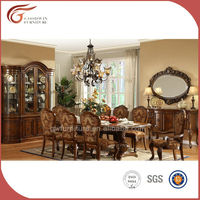 antique style luxury hand carved solid wood dining room furniture from china