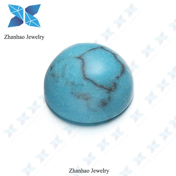 round cut turquoise color aaa Grade artificial diamond