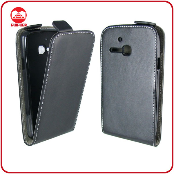 Factory Wholesale Luxury Vertical Ultra Slim Leather Flip Mobile Phone Case for Alcatel One Touch M Pop 5020D