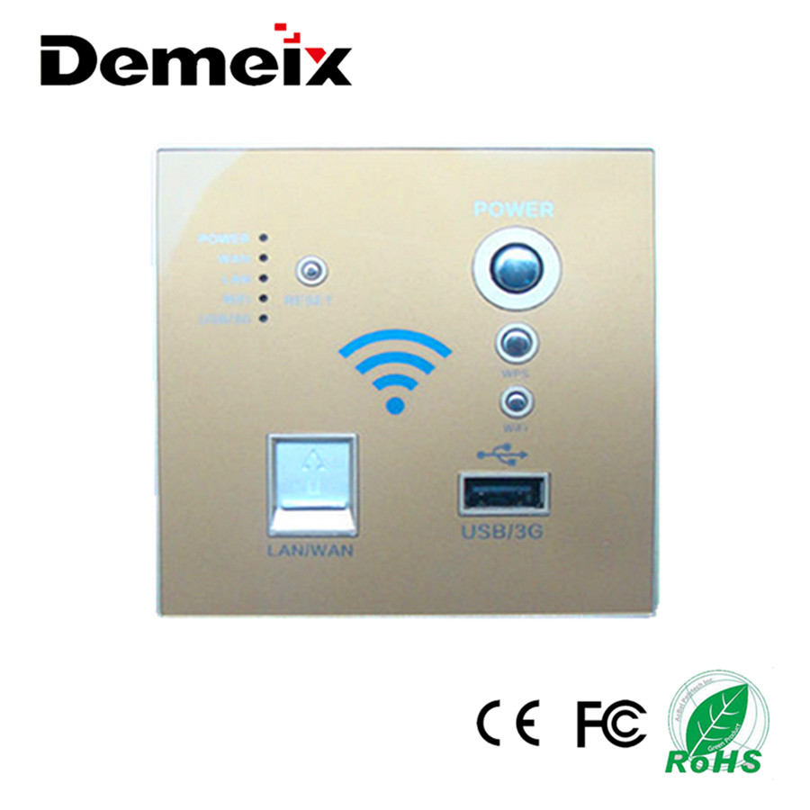 High-Power 150Mbps 1WAN+1LAN 3G Wireless Wall Embedded AP WIFI Router