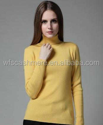 competitive products women's polo neck cashmere sweater