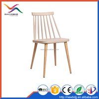 Biaoxiang Most Popular PP Plastic Dining Chairs with Metal Legs