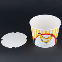 Custom Printed Double Side Food Paper Bucket for Popcorn and Fried Chicken