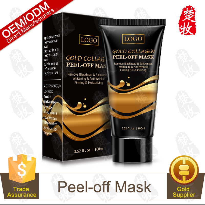 Chinese Manufacturer Supply Gold Collagen Peel-off Mask Remove Blackhead & Sallowness100ml