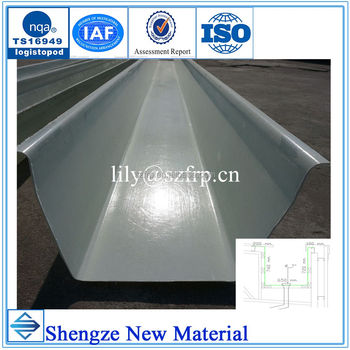 High strength frp rain gutter pipe