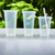 500ml Tableware disposable plastic juice cups with lid pp materia