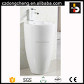 C3966 chaozhou bathroom round one piece pedestal basin