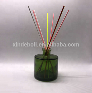 Empty 200MLl Round Colored Reed Diffuser Glass Bottle Size With Dropper And Rattan Sticks Glass Bottle Manufacturer