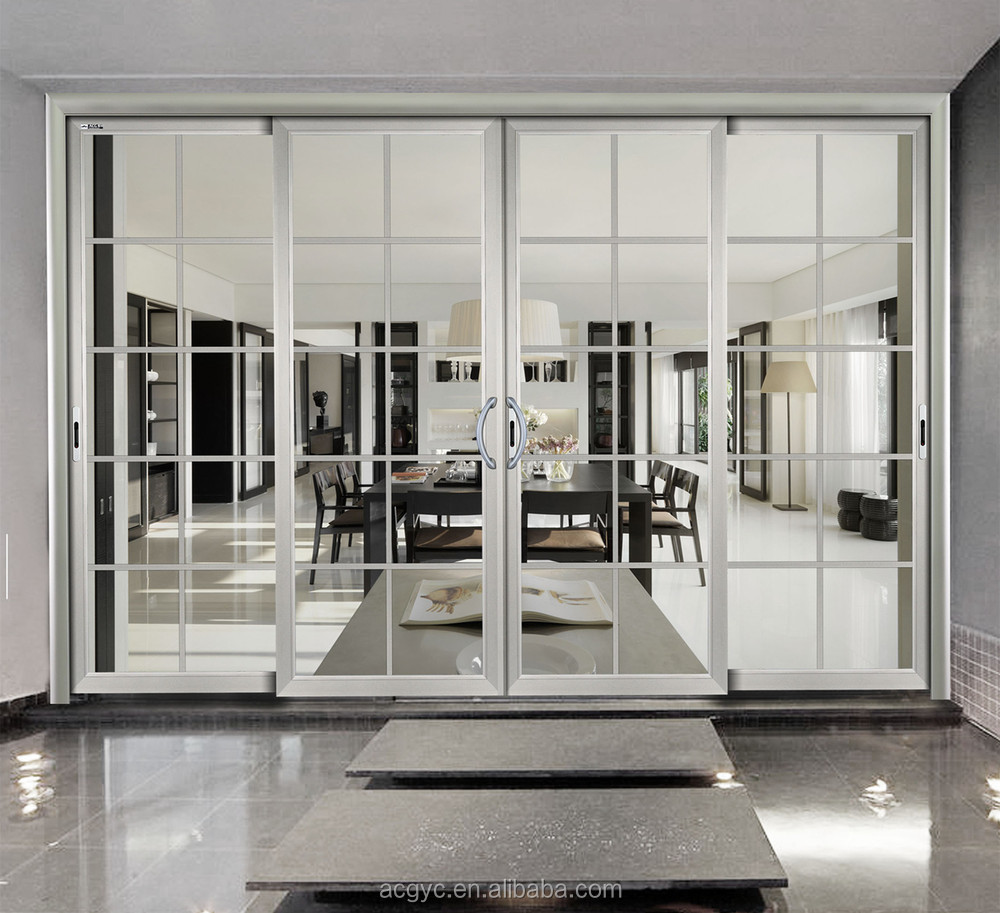 Big glass aluminum sliding door price double glazed for Aluminum sliding glass doors price