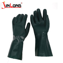 PVC single dip, smooth, cotton velvet lined gloves pvc coated cheap work gloves