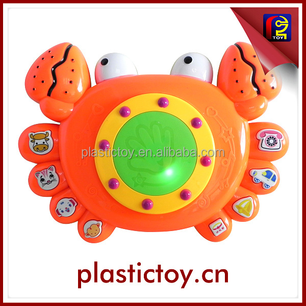 kid musical drum toy electronic crab toy with light and music MZC175743