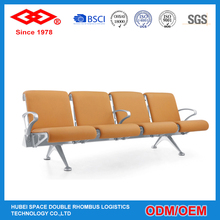 Modern public furniture popular bench waiting stainless steel airport chair