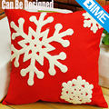 Christmas Snowflake airline linen decorative pillow cover for home bed