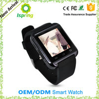"1.4"" touch screen android smart watch, bluetooth phone call, SMS, MP3/MP4 play back, pedometer and sleep monitor OEM"